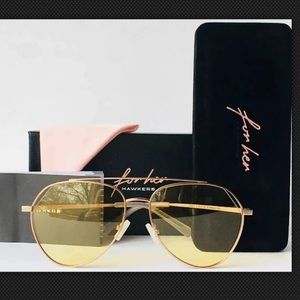 hawkers Accessories - Hawkers Womens Sunglasses Aviator Gold Yellow Lens